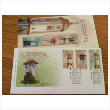 Historical Place Clock Tower M'sia 2003 Building Architects Stamp FDC