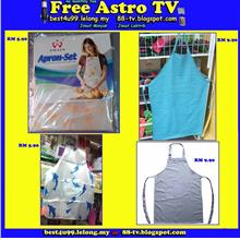 Restaurant Kitchen Shirt Cloth Apron kain Baju Dapur masak Waterproof