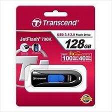 TRANSCEND 128GB USB3.0 JETFLASH JF790 FLASH DRIVE (TS128GJF790K) BLK