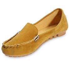 CASUAL ROUND TOE SLIP-ON NON-SLIP WOMEN FLAT SHOES (YELLOW)