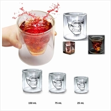 Double Wall Skull Shot Glass (3 Sizes Available)
