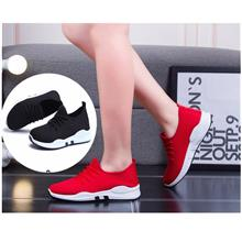 Ladies Sports Casual Shoes (Black,Red)