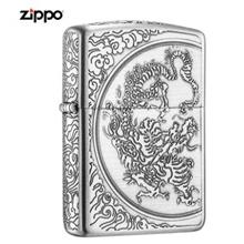 Zippo Lighter Five Double Dragon In The Cloud-Black Silver (ZBT-3-33C)