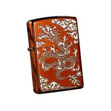 Zippo Lighter Flying Dragon In The Cloud ( Red Silver) (ZBT-3-35B)