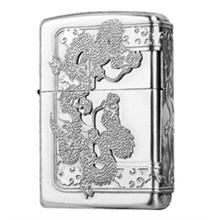 Zippo Lighter Silver dragon Out of cloud 2 (ZBT-5-29B)