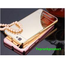 ZTE Blade A610 Mirror Metal Frame Case Cover Casing + Free Gift