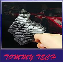 Carbon Fiber Rubber Soft Bumper Strip Door Side Bumper Stickers Door