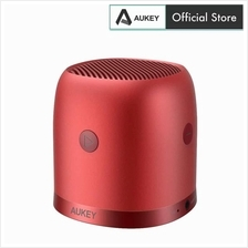 Aukey SK-M31 Wireless Mini Bluetooth Speaker with Enhanced Bass - Red)