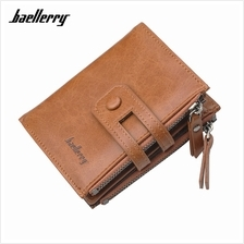 4GL Baellerry D3206 Men Short Wallet Zipper Purse Card Holder Dompet