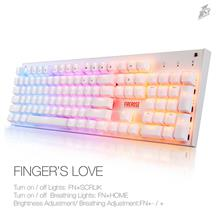 1ST Player Firerose MK3 Mechanical Gaming Keyboard with USB Floating S..