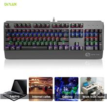 Delux KM06 Mechanical Keyboard Backlight Multimedia Key USB Wired Keyb..