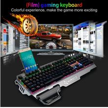 PK-900 Mechanical Keyboard 104 Keys Backlit Gaming Keyboard with Phone..