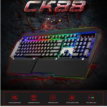 MOTOSPEED CK88 RGB Backlit Mechanical Keyboard For PC Laptop Desktop N..