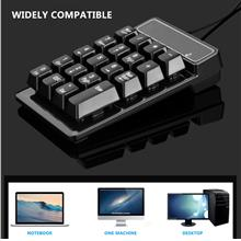 USB Wired Connection 19 Keys Slim Mini Numeric Keypad Mechanical Feeli..