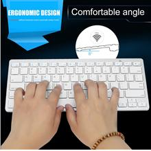 Silver Ultra-slim Wireless Bluetooth Keyboard For Air for ipad Mini fo..
