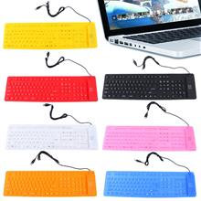 Waterproof Portable Soft Flexible Silicone Keyboard for PC Laptop 109 ..