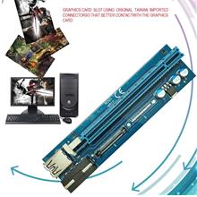 Mining Graphics Card PCI-E To PCIE Riser Card 1X To 16X 4 Pin To SATA ..