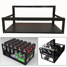 6 GPU Mining Frame Case Open Air Mining Miner Frame for ETH BTC Ethere..