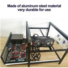 12GPU+10Fans Open Air Frame Mining Miner Rig Case For Crypto Coin Zcas..