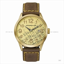 Caterpillar CAT Watches EX.181.35.818 Extend Date Leather Strap Gold