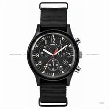 TIMEX TW2R67700 (U) Military Aluminium chrono slip-thru nylon black