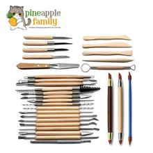 30pcs Clay Sculpting Tools Pottery Carving Tool Set Wooden Handle Mode