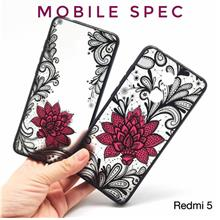 XIAOMI REDMI 5 5A PLUS 6 PRO 6A BEAUTIFUL SEXY BLACK LACE FLOWER CASE
