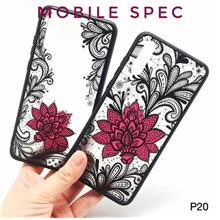 HUAWEI P20 / P20 PRO BEAUTIFUL SEXY BLACK LACE FLOWER BACK CASE