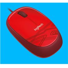 LOGITECH WIRED OPTICAL MOUSE (M105) RED