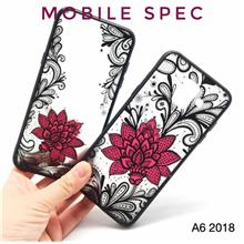 SAMSUNG GALAXY A6 PLUS A8 STAR 2018 SEXY BLACK LACE FLOWER BACK CASE