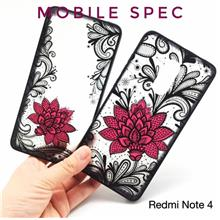 XIAOMI REDMI NOTE 4 5 5A PRIMEBEAUTIFUL SEXY BLACK LACE FLOWER CASE