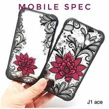 SAMSUNG GALAXY J1 ACE J510 J710 BEAUTIFUL SEXY BLACK LACE FLOWER CASE