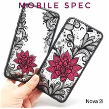HUAWEI NOVA 2 2i 3 3i LITE BEAUTIFUL SEXY BLACK LACE FLOWER BACK CASE