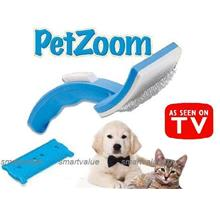 Pet Zoom:Groom like a Pro! Self Cleaning Grooming Brush for Cats& Dogs