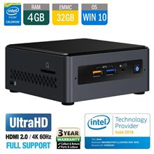 Intel NUC NUC7CJYS 2.7GHz +4GB+32GB eMMC+WiFi-AC+BT+Mics+SDXC+Win10