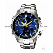 CASIO EMA-100D-2AV EDIFICE Ana-Digi tide graph thermo SS bracelet blue