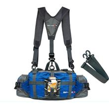 Double Strap Hiking Shoulder Hip Belt Bag Pouch Water Cycling