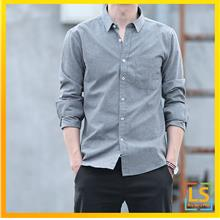 Stylish Men Long Sleeve Smart and Casual Oxford Shirt