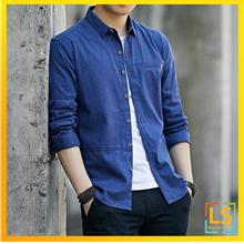 Stylish Men Slim Fit Long Sleeve Smart and Casual Shirt