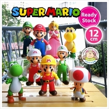 Super Mario Luigi Yoshi Koopa Troopa Toad Figures Toy Doll Cake Topper