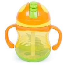 RIKANG 300ML COLORFUL DRINKING STRAW BOTTLE SIPPY CUP WITH HANDLES FOR BABIES