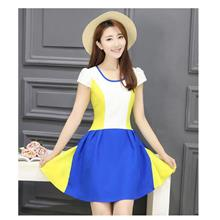 KOREA FASHION DRESS 2018 LOOK THIN PROMO - yellow blue white