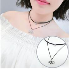 Double Layer Leather Clavicle Necklace (520)