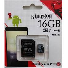 KINGSTON 16GB TF MICRO SDHC CLASS 10 80MB/S MEMORY (SDC10G2/16GBFR)