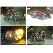Hyundai GETZ '04-06 Cryatal Head Lamp [Chrome Housing]