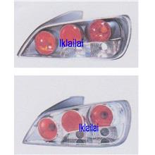 PEUGEOT 406 Crystal Tail Lamp [Chrome/Black Housing]