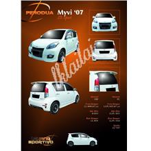 Perodua Myvi '07 SE Sport Body Kit [Option SE Style Clear Tail Lamp+Rm