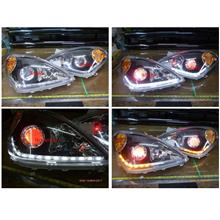 Toyota Avanza `03 Projector Head Lamp + 2-Function DRL R8 + Angel Eye