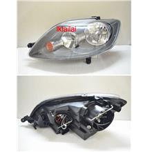 Volkswagen GOLF PLUS `05-08 Crystal Head Lamp 2-Function DRL R8 Black