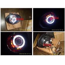 Perodua Kancil Projector CCFL Angel Eye Head Lamp [HID included]